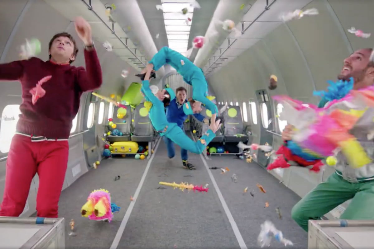 ok go defies gravity in amazing new flying music video digital trends. Black Bedroom Furniture Sets. Home Design Ideas