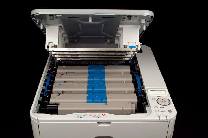 oki c  dn review ink cartridges open