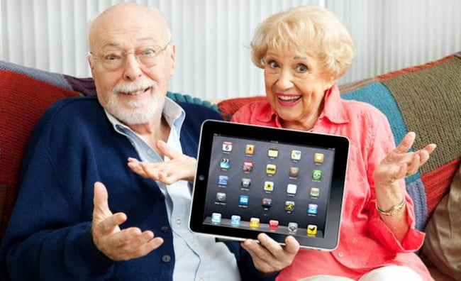 old people with ipad digital divide