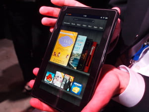Amazon Kindle Fire - hand modeled
