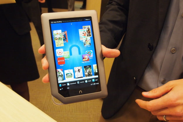 B&N Nook Tablet unveiling - Tablet homescreen