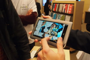 Barnes & Noble Nook Tablet unveil - Nook Tablet comic books