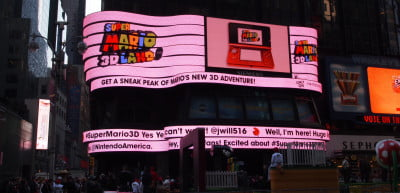 Nintendo Super Mario 3D Land Time's Square - billboard