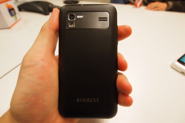 Samsung Captivate Glide hands on - back and camera
