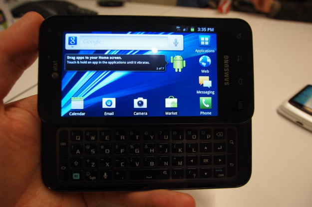 Samsung Captivate Glide hands on - the keyboard