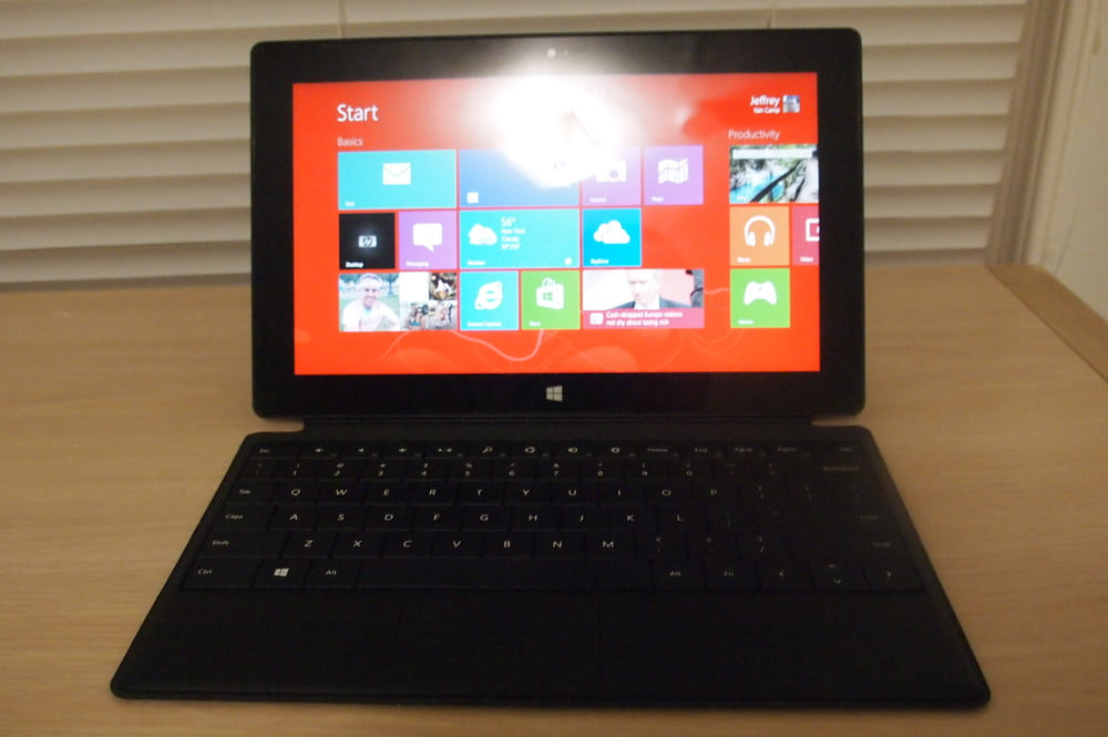 Microsoft Surface With Windows RT review keyboard