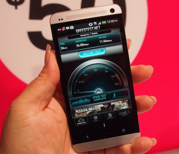 T-Mobile HTC One SpeedTest LTE
