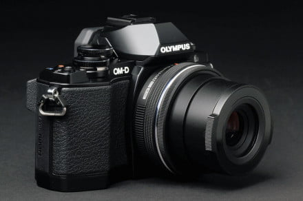 Olympus OM D E M10 front angle 3
