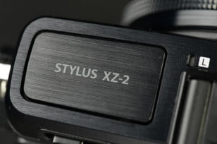 Olympus Stylus XZ 2 iHS Review digital camera top logo compact camera