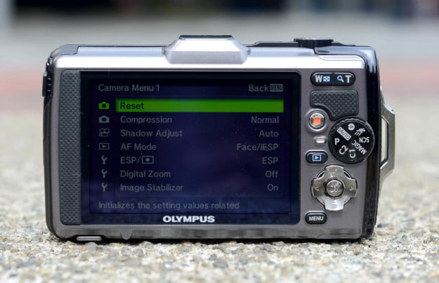 Olympus Tough TG 1 iHS Review digital camera rear lcd digital camera point and shoot rugged