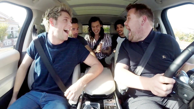 carpool karaoke spinoff apple music one direction joins james corden for
