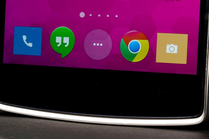 oneplus one review plus  screen bottom