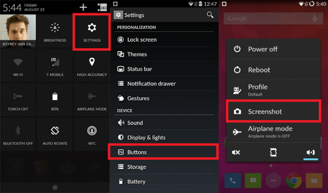 OnePlus One Screen Options