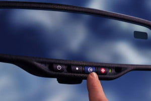 OnStar button rearview mirror