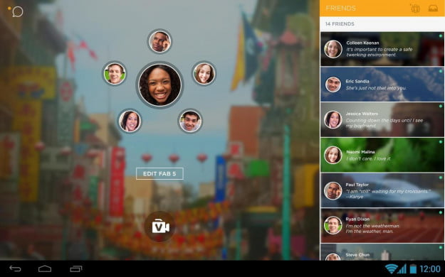 ooVoo_Android_tablet_app_screenshot