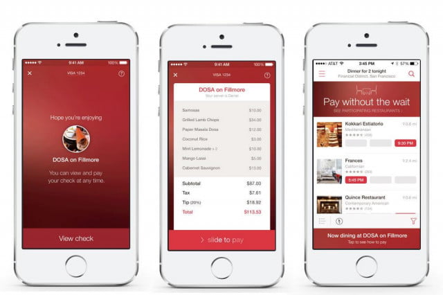 opentable mobile payments nyc restaurants