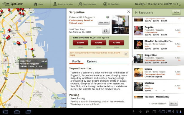 OpenTable_Android_tablet_app_screenshot