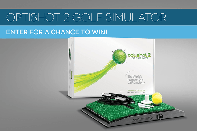 dt giveaway enter to win a free optishot  golf simulator contest