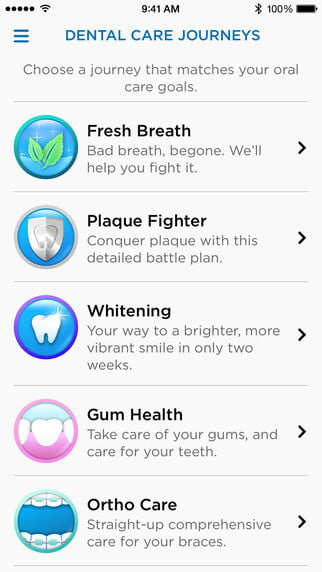 oral b genius toothbrush location tracking technology app ios