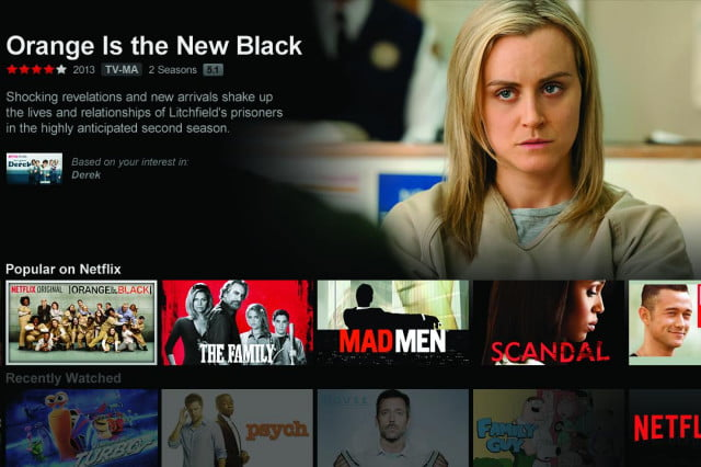 netflix pays att increase streaming video speeds orange black