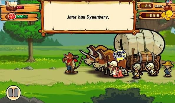 oregon trail screenshot nook screenshot nook tablet game app