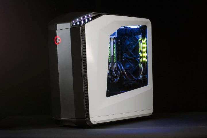 origin millennium  review genesis gaming desktop front side case lights