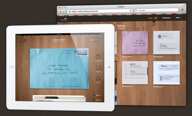 Outbox on ipad and the Web
