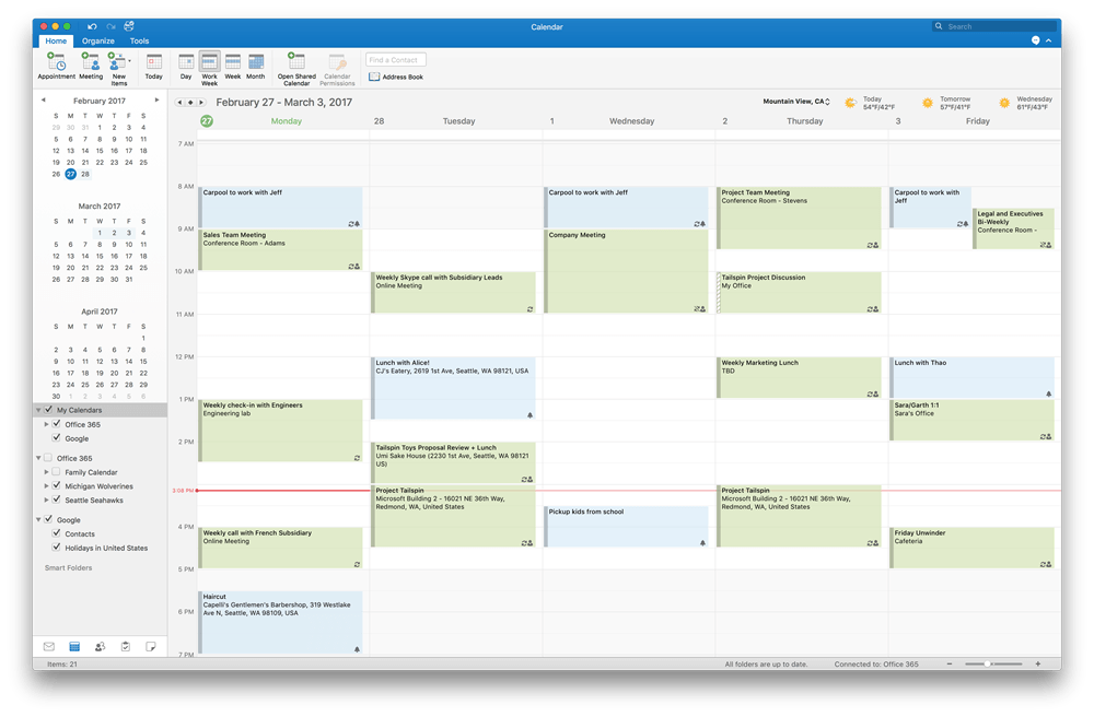 Microsoft adds Google Calendar support for Outlook on Mac