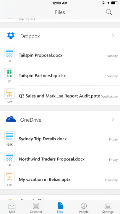 microsoft outlook app for ios android