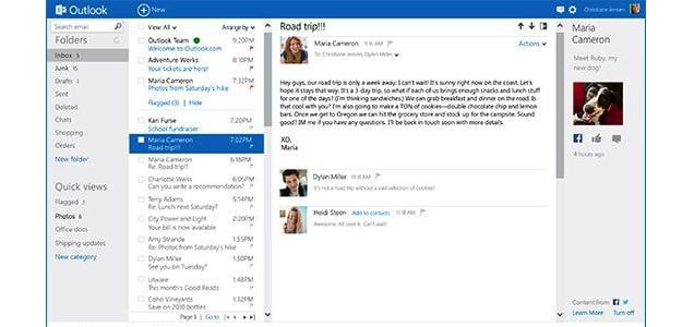 Outlook Page View