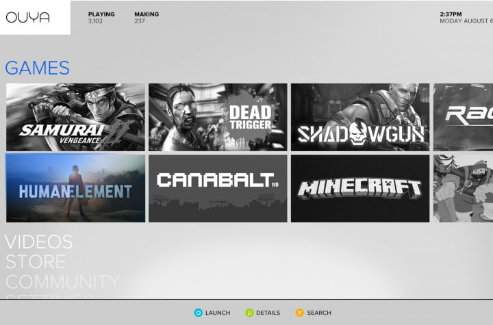 ouya sold itself very well but the real test begins this month home screen