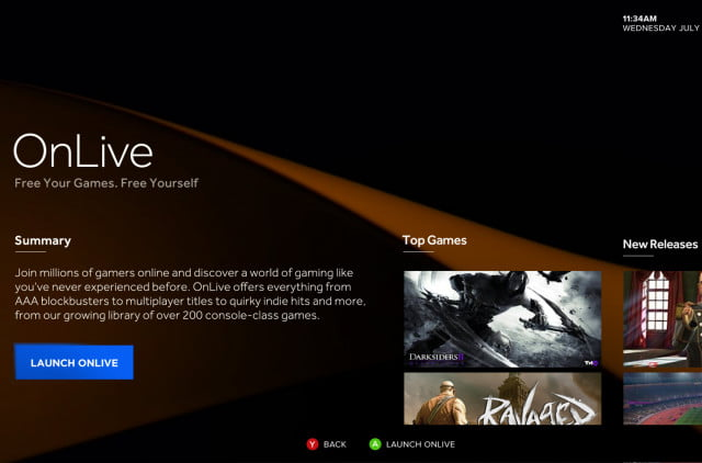 onlive streaming games shutting down on april  due to sony buyout ouya home screen