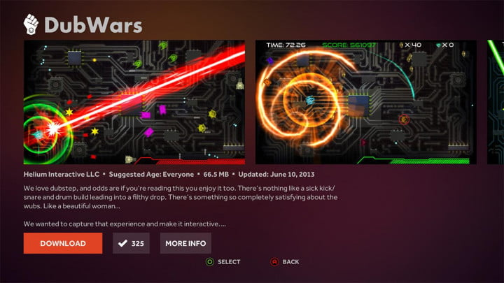 ouya review software interface dubwars