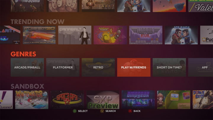 ouya review software interface genres