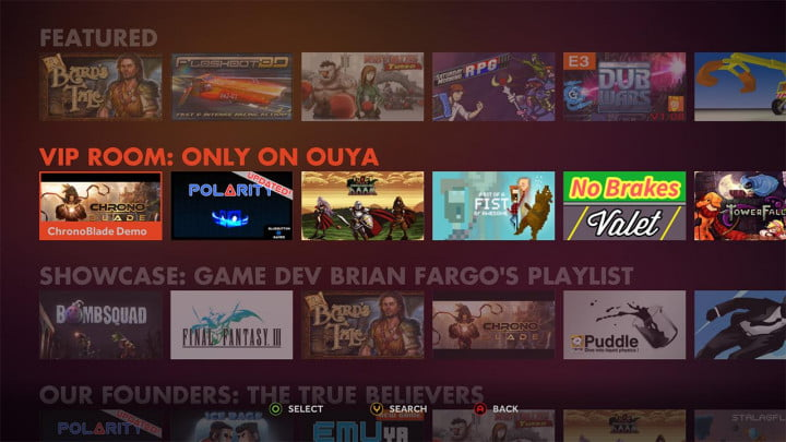 ouya review software interface vip room