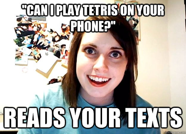 overly attached girlfriend example