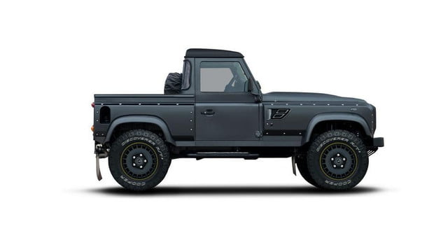 kahn design unveils the flying huntsman defender pickup