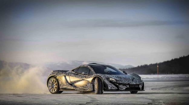 McLaren P1 cold weather testing
