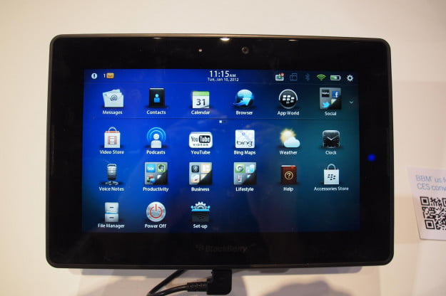 BlackBerry PlayBook 2.0 software