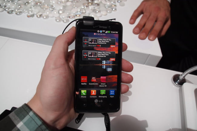 LG Spectrum 4G LTE phone for Verizon - CES 2012