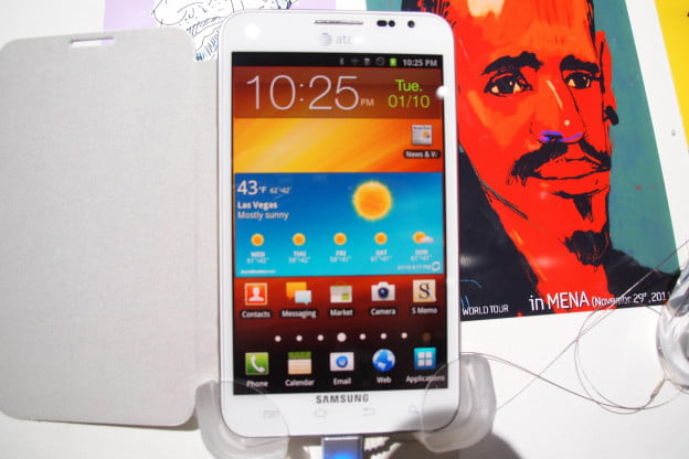 Samsung Galaxy Note homescreen with cover