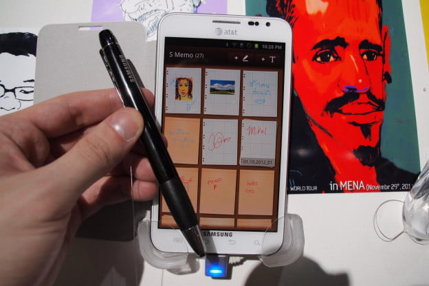 Samsung Galaxy Note with a stylus