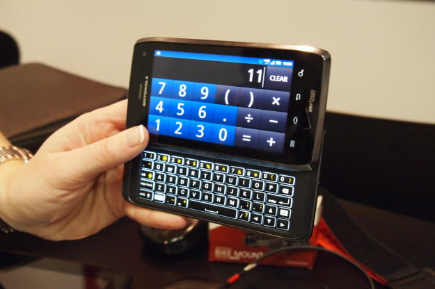 Motorola Droid 4 - backlit keyboard
