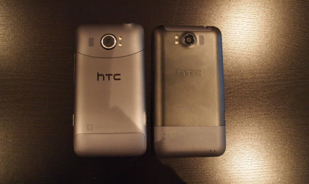 HTC Titan II vs HTC Titan - back