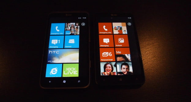 HTC Titan II vs HTC Titan - screens