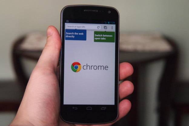 Chrome Beta for Android - Start Screen