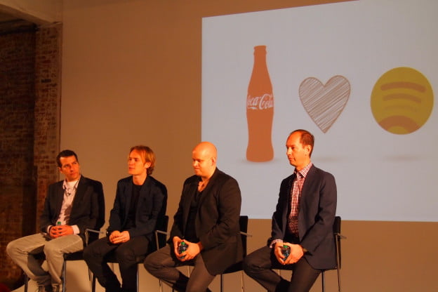 Spotify and Coke press conference