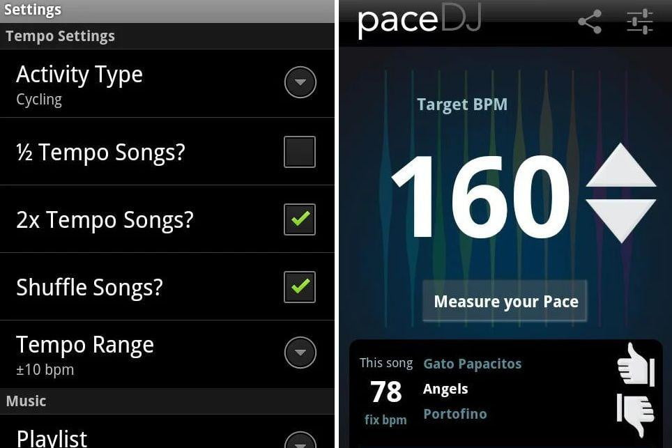 PaceDJ exercise fitness music app