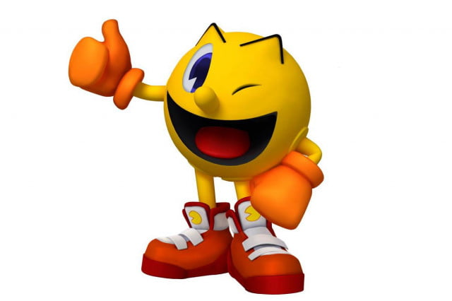 super smash bros wii u  ds e roundtable pacman thumbsup
