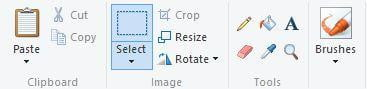 Select part of image you wish to crop